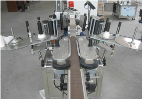 Front and back , up and down labeling machine