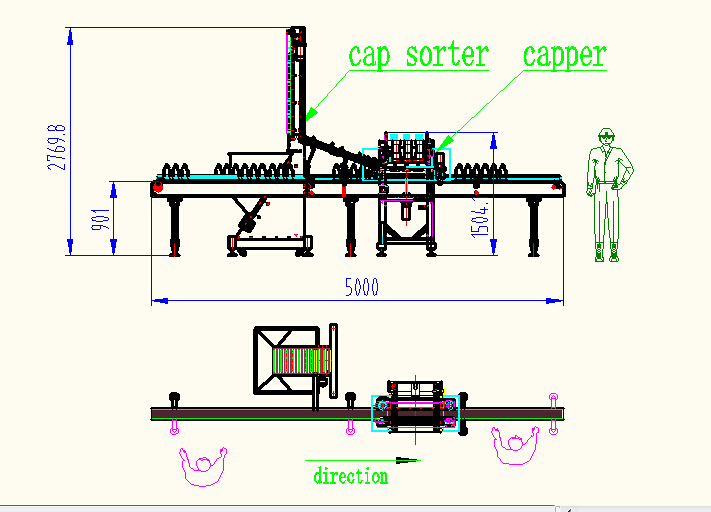 NP-LC capping machine drawing