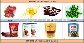 Automatic preformed pouch packing machine for cane sugar